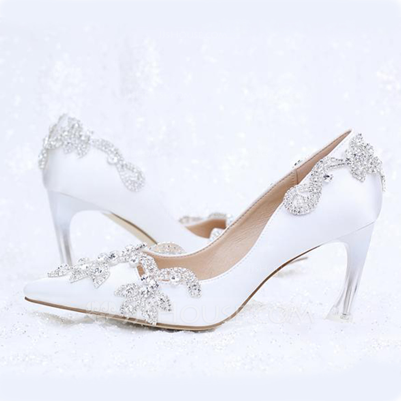 6f9a23ce3b07 Women s Leatherette Stiletto Heel Closed Toe Pumps With Rhinestone Crystal. Loading  zoom