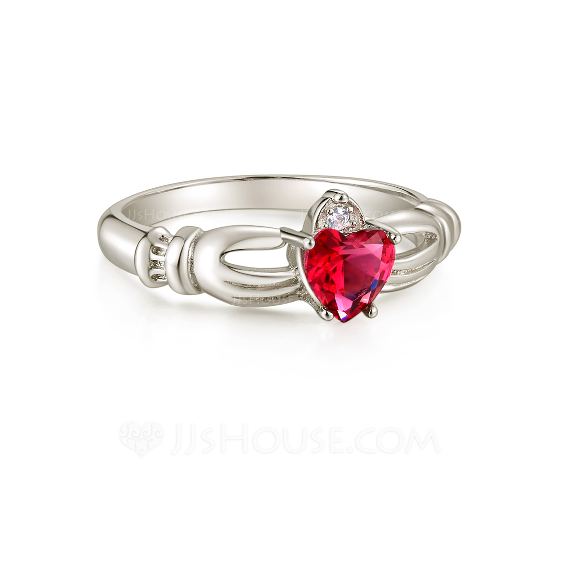 Sterling Silver Cubic Zirconia Dainty Vintage Heart Cut Promise Rings Cocktail Rings -