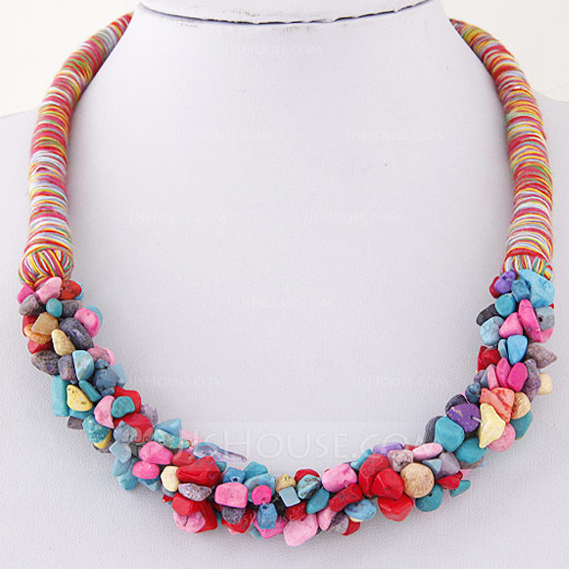 Exotic Braided Rope Ladies' Fashion Necklace (Sold in a single piece)