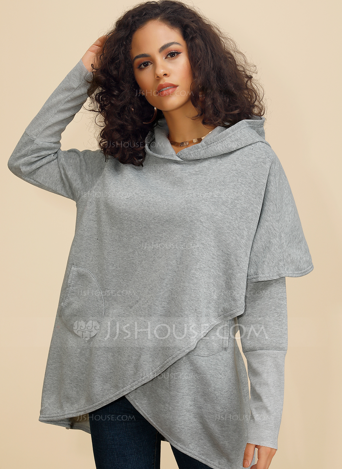 Long Sleeves Polyester Round Neck Ticot Bluzlar