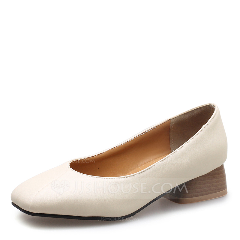 33b454d69e07 Women s Leatherette Low Heel Pumps Closed Toe With Others shoes. Loading  zoom