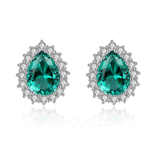 Ladies' Classic Zircon Cubic Zirconia Earrings For Bride/For Bridesmaid/For Mother