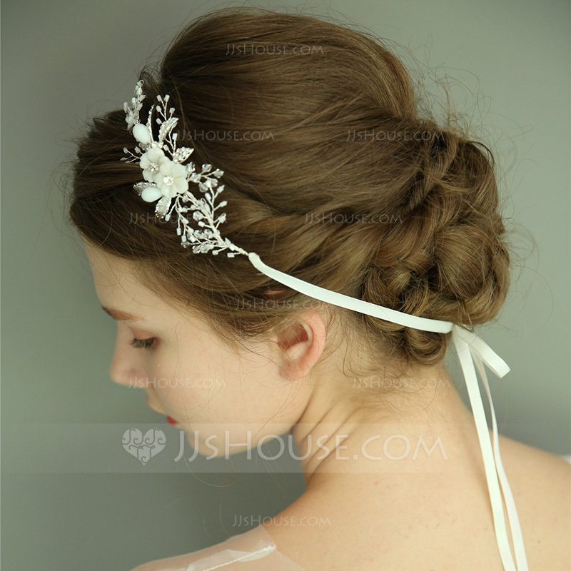 Ladies Gorgeous Alloy Headbands With Rhinestone/Crystal (Sold in single piece)