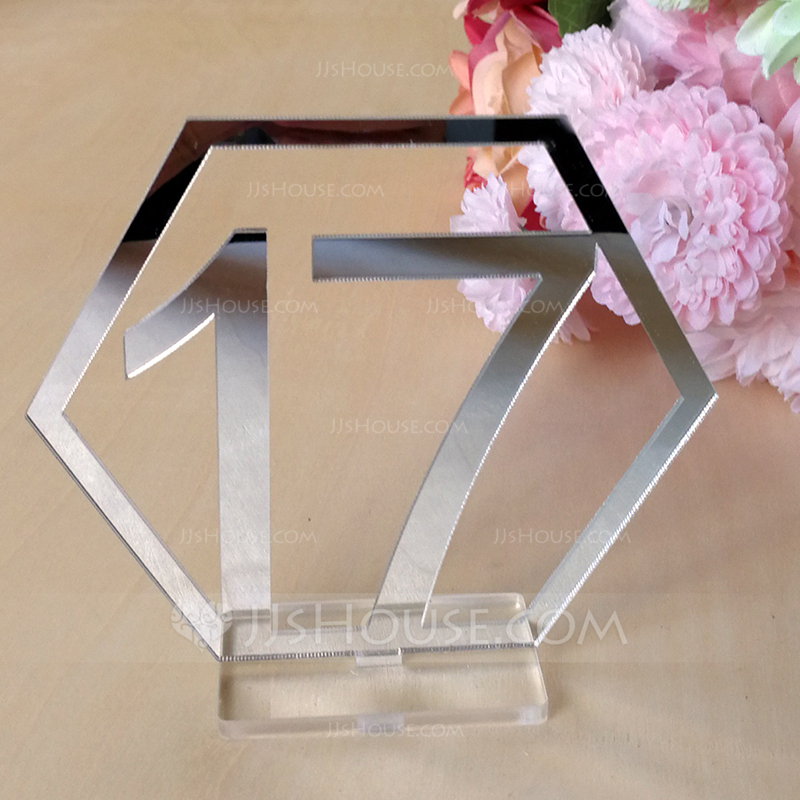 Classic Acrylic Table Number Cards (Set of 20)