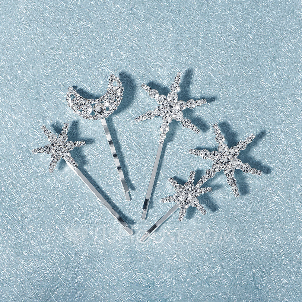 Ladies Special Rhinestone Hairpins With Rhinestone (Set of 4)
