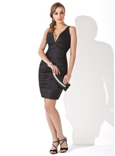 Black Satin Short Dress