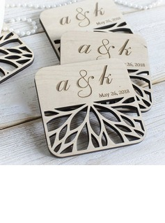 Personalized Wooden Coaster Favors (Set of 10)