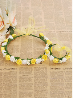 Foam/Plastic Flower Headband ( Including Wrist Corsage)