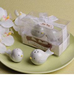 Love Birds Salt and Pepper Shakers Set in Tiffany Blue GiftBox (Set of 2)
