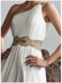 half sleeve gown dresses