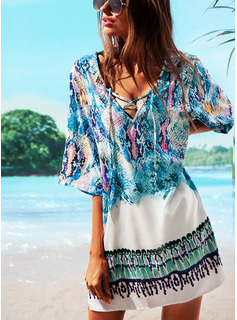 Beautiful Colorful Polyester Cover-ups