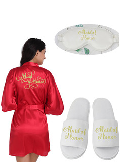 Personalized Polyester Glitter Print Robes