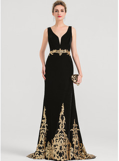 mermaid styled prom dresses black