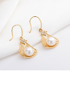 Ladies' Unique Pearl Earrings