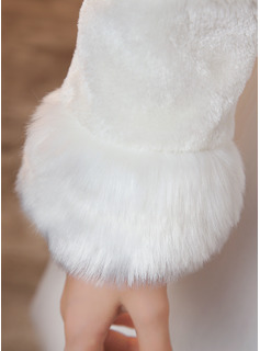Faux Fur Wraps With Ribbon