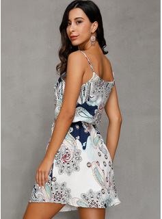 evening dress with split front