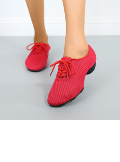 Women's Mesh Sneakers Modern Ballroom With Lace-up Dance Shoes