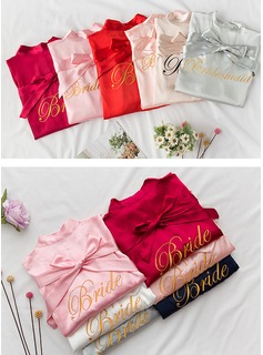 Charmeuse Bride Embroidered Robes