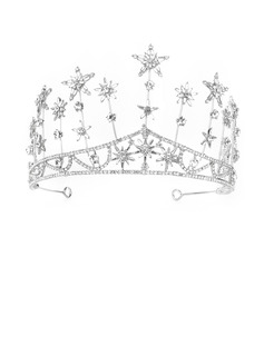 Ladies Gorgeous Rhinestone/Alloy Tiaras With Rhinestone (Sold in single piece)