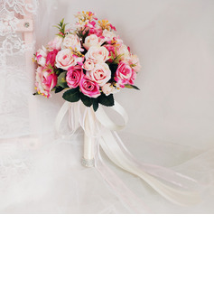 Classic Hand-tied Rhinestone/Silk Flower/Artificial Flower Bridal Bouquets/Bridesmaid Bouquets (Sold in a single piece) - Bridal Bouquets/Bridesmaid Bouquets