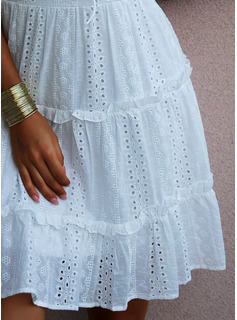 strapless lace high low dress