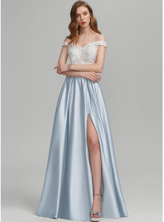 blue bridesmaid dresses with rhinestones