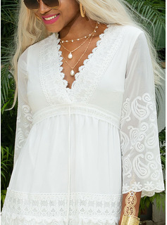 fitted white lace dress long