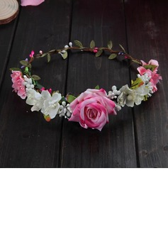 Artificial Flower With Flower Flower Headband (Sold in a single piece)