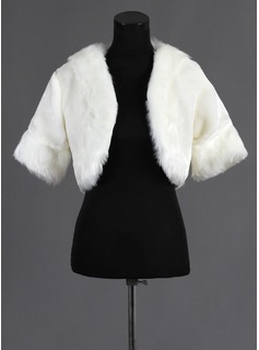 Half-Sleeve Faux Fur Wedding Wrap