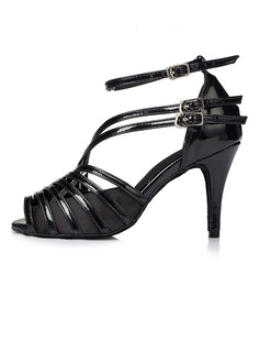 Women's Satin Leatherette Latin With Buckle Dance Shoes