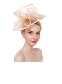 Dames Accrocheur/Charme/Romantique Feather/Fil net avec Feather Chapeaux de type fascinator/Kentucky Derby Des Chapeaux