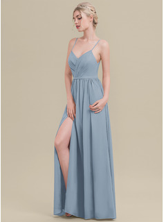 chiffon split front maternity dress