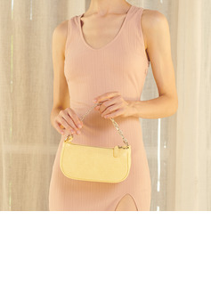 champagne coloured evening gown