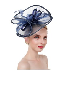 Ladies' Eye-catching/Charming/Romantic Feather/Net Yarn With Feather Fascinators/Kentucky Derby Hats