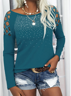 Regular Fitted Sequins Solid Casual Sexy Long Sleeves