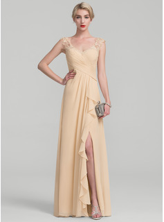 black and gold chiffon dress