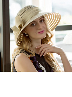 Ladies' Glamourous Cambric With Bowknot Bowler/Cloche Hat