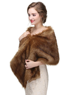 Faux Fur Wedding Shawl