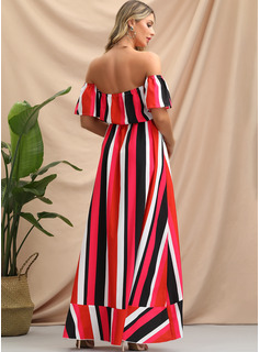 A-Line Off-the-Shoulder Asymmetrical Evening Dress