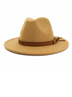 Men's Glamourous/Classic/Eye-catching Wool Fedora Hats/Panama Hats