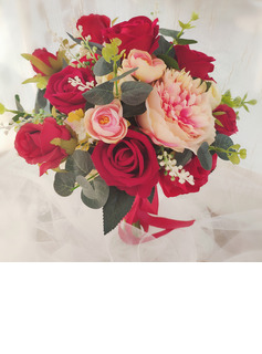 Classic Hand-tied Satin/Ribbon/Silk Flower/Artificial Flower Bridal Bouquets/Bridesmaid Bouquets (Sold in a single piece) - Bridal Bouquets/Bridesmaid Bouquets