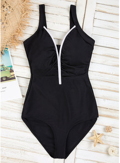 Sexy Splice color Chinlon One-piece