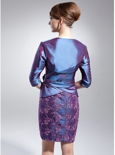 3/4-Length Sleeve Taffeta Wrap