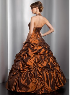 long brown evening dress