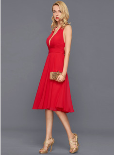 red short cheap prom dress