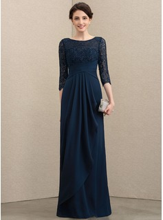 modest navy blue lace dress
