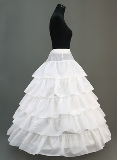 Women Nylon Floor-length 5 Tiers Petticoats