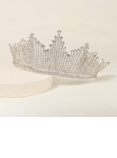 Ladies Elegant Alloy Tiaras With Rhinestone (Sold in single piece)
