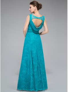 Trumpet/Mermaid Sweetheart Floor-Length Lace Evening Dress With Ruffle Beading