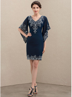 silver lace dress with sleeves